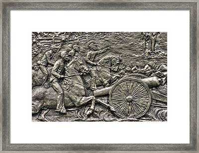 Bringing Up The Battery Detail-a 6th New York Independent Battery Horse Artillery Gettysburg Autumn Framed Print by Michael Mazaika