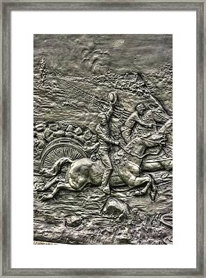Bringing Up The Battery Detail-e 6th New York Independent Battery Horse Artillery Gettysburg Autumn Framed Print by Michael Mazaika