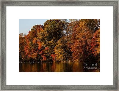 Brinton Lake Framed Print by Judy Wolinsky