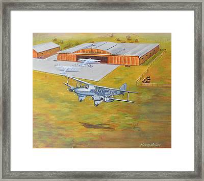 Brisbane Airport 1935 Framed Print by Murray McLeod