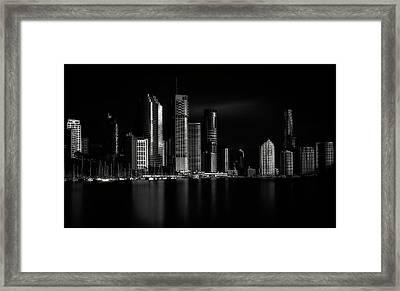 Brisbane City Of Light Framed Print