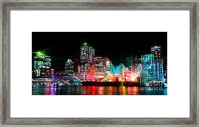 Brisbane City Of Lights Framed Print