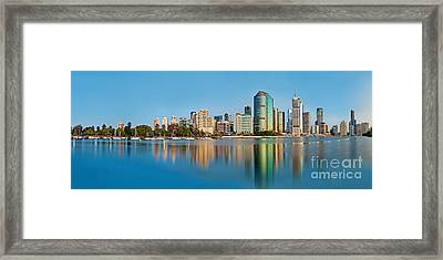 Brisbane City Reflections Framed Print