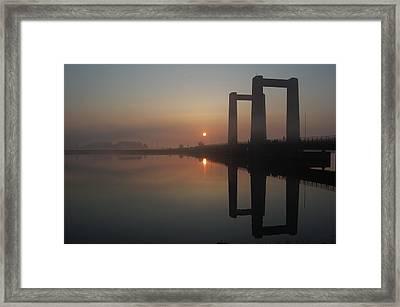 Brisge At Dawn Framed Print