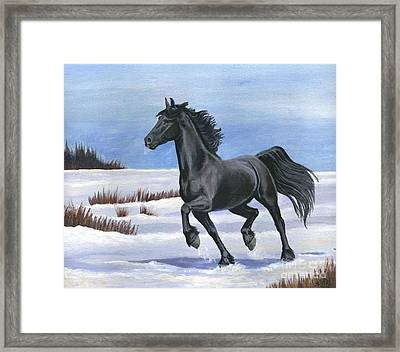 Framed Print featuring the painting Brisk Trot by Sheri Gordon