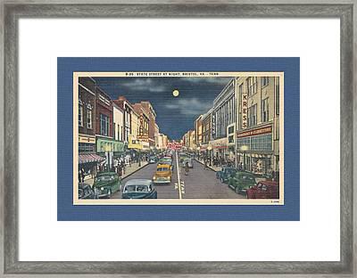 Bristol At Night In The 1940's Framed Print