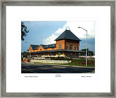 Bristol Train Station Bristol Virginia Framed Print by Denise Beverly