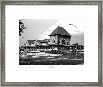 Bristol Train Station Bw Framed Print