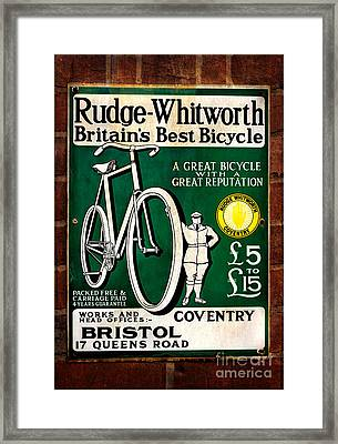 Britains Best Bicycle Framed Print by Adrian Evans
