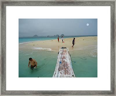 Britania Island Framed Print by Fladelita Messerli-