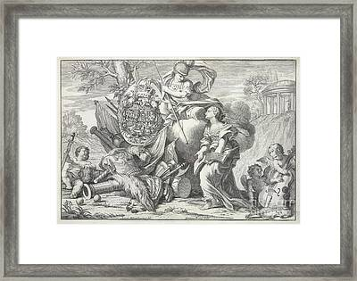 Britannia And Cherubs Framed Print