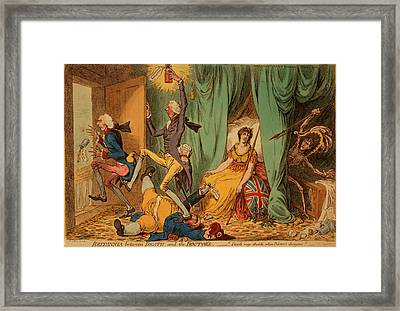 Britannia Between Death And The Doctors, Gillray, James Framed Print by Litz Collection