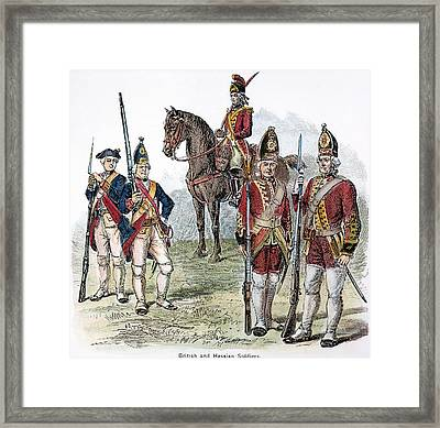 British & Hessian Soldiers Framed Print by Granger