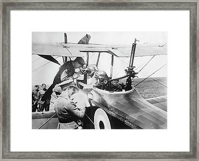 British Aircrew Being Briefed Framed Print