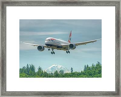 British Airways 787 Framed Print by Jeff Cook