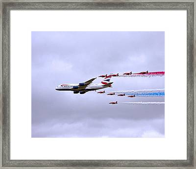 British Airways A380-841 Framed Print by Paul Scoullar