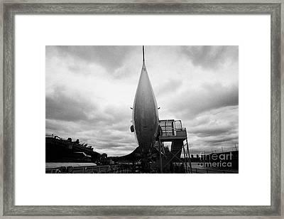 British Airways Concorde Exhibit At The Intrepid Sea Air Space Museum Framed Print by Joe Fox