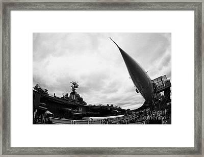 British Airways Concorde Exhibit At The Intrepid Sea Air Space Museum New York City Framed Print