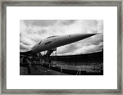 British Airways Concorde Exhibit At The Intrepid Sea Air Space Museum New York Framed Print