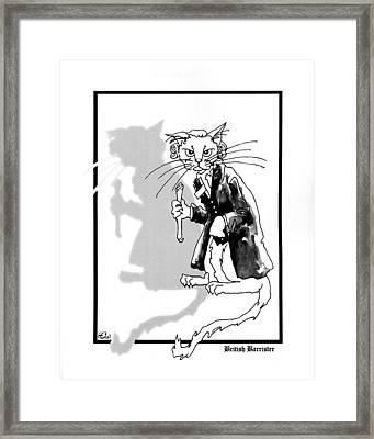 British Barrister Framed Print