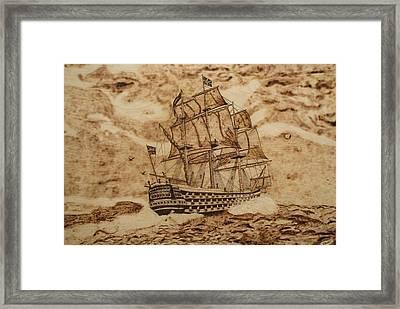British Battleship Framed Print