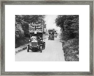 British Double Decker Buses Framed Print