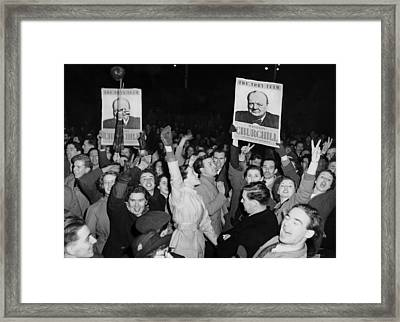 British Election Returns Framed Print