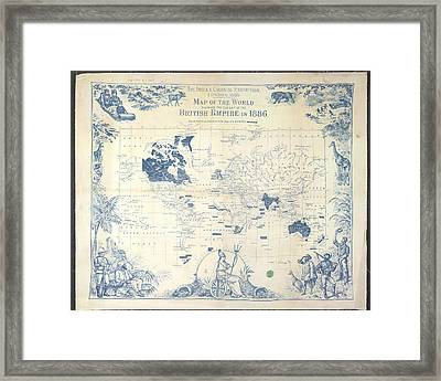 British Empire Map Framed Print by British Library
