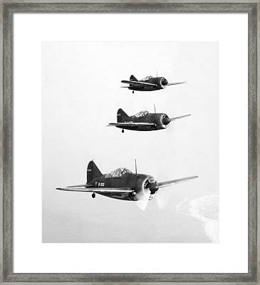 British Fighter Planes Framed Print by Granger