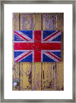 British Folk Art Flag Framed Print by Garry Gay