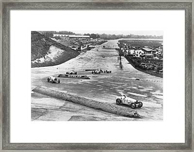 British Grand Prix Auto Race Framed Print by Underwood Archives