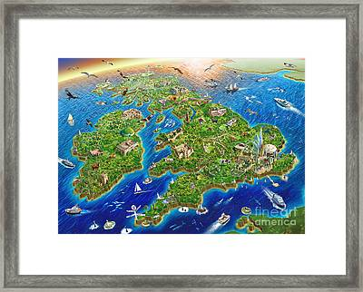 British Isles Framed Print by Adrian Chesterman