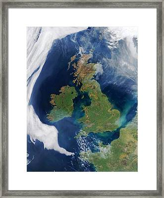 British Isles, Satellite Image Framed Print by Science Photo Library
