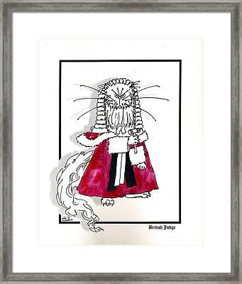 British Judge Framed Print