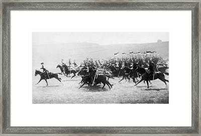 British Lancers Charging Framed Print