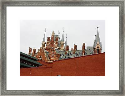British Library And St. Pancras Framed Print by Pat Purdy