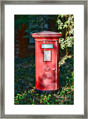 British Mail Box Framed Print by Paul Ward