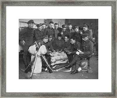 British Marines Playing Cards Framed Print by Underwood Archives