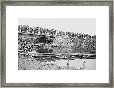 British Military Bridge Framed Print by Library Of Congress