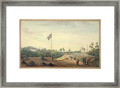 British Military Camp Framed Print by British Library