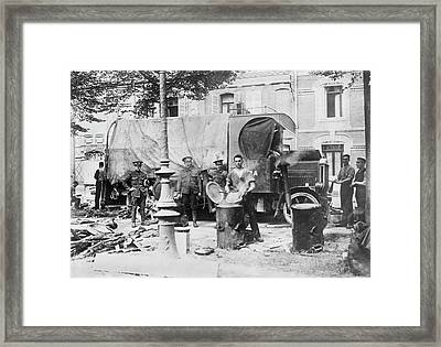 British Military Kitchen Framed Print by Library Of Congress