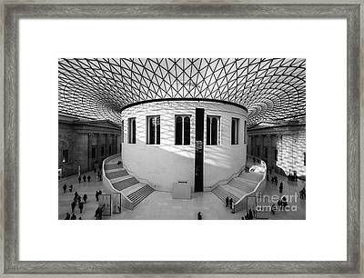 Framed Print featuring the photograph British Museum Black And White by Matt Malloy