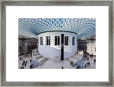 Framed Print featuring the photograph British Museum Color by Matt Malloy