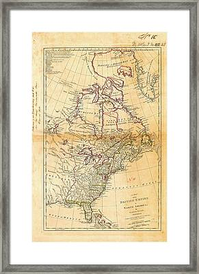British North America Framed Print by American Philosophical Society