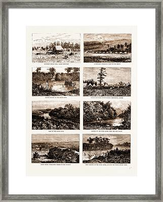British North America Canada, 1881 On The South-western Framed Print by Litz Collection