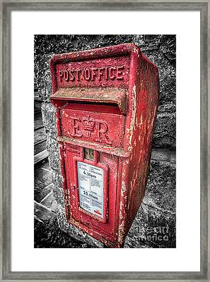 British Post Box Framed Print by Adrian Evans