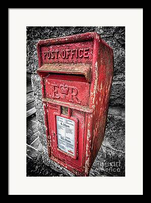 Mail Box Digital Art Framed Prints