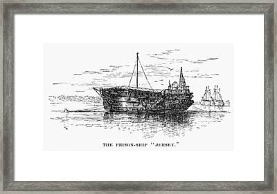 British Prison Ship, 1770s Framed Print