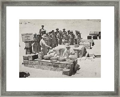 British Soldiers Receive Training Framed Print