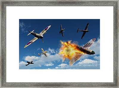 British Supermarine Spitfires Battle Framed Print